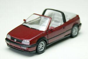 VW Golf III Cabriolet - Model Year 1993-1998, Red Metallic, Schabak-Modell 1:43,