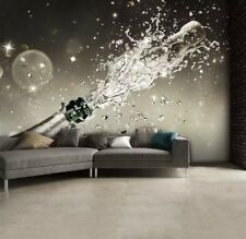 NEW 1WALL ORIGINAL WALL MURAL - CHAMPAGNE AND CHAIR - BAR MURAL - 3.15m X 2.32m