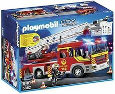 PLAYMOBIL 5362 City Action Fire Brigade Engine Ladder Unit With Lights and