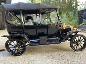 FRANKLIN MINT 1913 FORD MODEL T 1991 Touring black 1:16 with tag diecast NOS