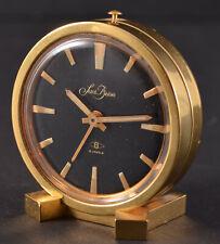 Vintage Saint Blaise Brass Travelling Alarm Clock 8 Jewels