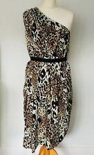 Vestido de Maternidad ASOS tamaño 12 Leopardo Impresión | Nueva Corbata Midi de un hombro de la cintura
