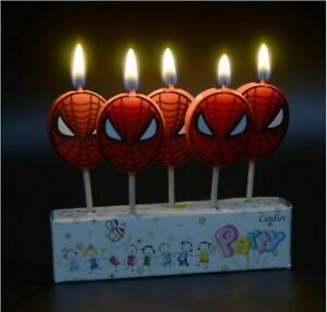 SPIDERMAN Birthday Cake Candle Candles Topper Party
