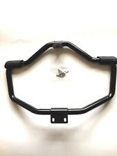 GLOSS BLK MUSTACHE ENGINE GUARD W/PEG FOR HD SPORTSTER XL & XR MODELS 2004-UP