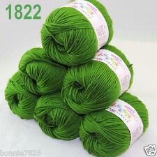 Sale 6 ballsx 50gr DK Baby Soft Cashmere Silk Wool hand knitting Crochet Yarn 22