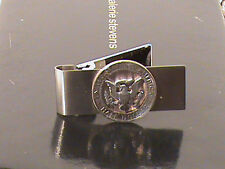 Hand Cut Kennedy 50 Cent Coin Mounted as a Money Clip