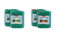 Canna Aqua Vega A&B and Flores A&B 5L Canna Aqua Flores A B 5 Litre Nutrient