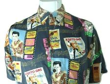 Reyn Spooner Elvis Presley Movies Button Front Rayon Hawaiian Shirt Size M