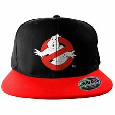 Black Ghostbusters No Ghost Sign Embroidered Snapback Baseball Cap - One Size