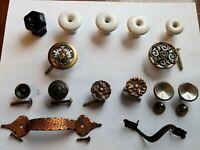 Lot Of 15 Vintage MCM Drawer Pulls Handles Various Sizes