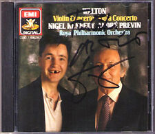 Nigel KENNEDY Signed WALTON Violin Viola Concerto PREVIN EMI CD Made in Japan