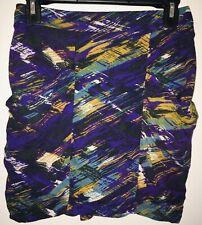 Multi-color mini skirt w/pockets juniors size medium blue, black, green & purple
