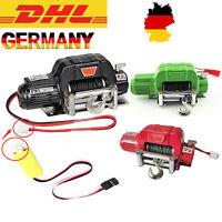 Auto Schwarz Winch Seilwinde Remote Controller Für 1/10 RC TRX-4 SCX10 D90 Car