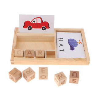 Montessori Word Puzzle Spelling Board Family Set Kindergarten Toy Learning