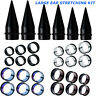 LARGE SIZES-BIG EAR STRETCHING KIT-EAR TAPERS &PLUGS-CHOOSE SIZES UP TO 1 INCH
