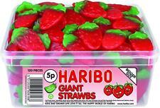 HARIBO Giant Strawbs 120 Per Tub
