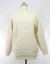 KAURI KRAFT Crewneck Wool Fisherman Sweater Cable Knit Handmade NEW ZEALAND s 44