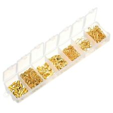 240pcs/box Gold Split Rings Lobster Clasp Ear Hook Connectors Jewelry DIY Making