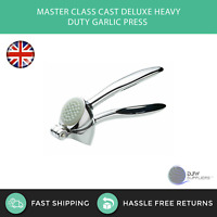 Masterclass Deluxe Heavy Duty Stainless Steel Garlic Press Crusher Kitchen