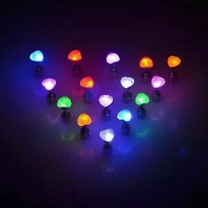 LED Earrings Ear Studs Blinking Flashing for Home Party Xmas Gift Nightclub