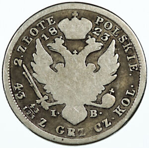 2 Zlote 1823 Poland / Russia ~ KM C#99b Alexander I Silver Coin