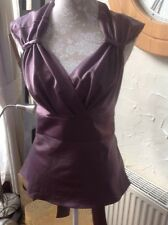 L@@K UNITED COLOURS OF BENETTON Size M Mauve Purple Blouse Top **New WT**RRP £23