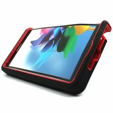 For Samsung Galaxy Note Edge Black Red Rugged Stand Hybrid Hard Cover Case