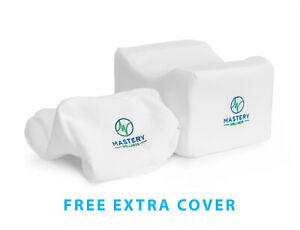 Mastery Wellness Orthopedic Memory Foam Knee Pillow for Sciatica Relief