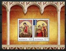 Australia 2018 MNH Christmas Nativity Mary Jesus 2v M/S Icons Art Stamps