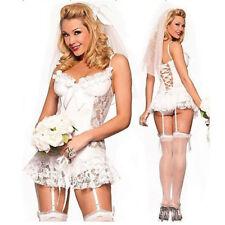 Womens Sexy Lace Bride Sexy-Lingerie Nightwear Underwear Babydoll Sleepwear AU