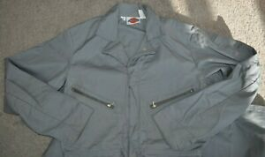 Vintage Dickies OVERALLS COVERALLS Size 40 Tall - Gray - Talon Zippers