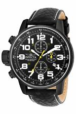 Invicta Men's 3332 Black Leather Japanese Chronograph Sport Watch
