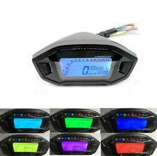7 Colors Adjust Motorcycle LCD Digital Speedometer Odometer Backlight Odometer