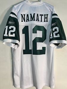 Reebok Authentic NFL Jersey New York Jets Joe Namath White sz 48