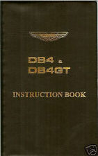 ASTON MARTIN DB4 DB4GT INSTRUCTION BOOK VINYL COVER NEW