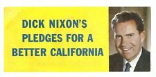 1962 California Richard NIXON for GOVERNOR FLYER