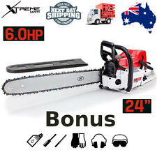 """Baumr-AG 24"""" 92cc Petrol Commercial Chainsaw A-VIBE Easy Start Huge Power SX92"""