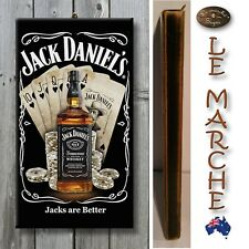 "JACK DANIELS ""Jacks Are Better"" Wooden Rustic Plaque / Sign (FREE POST) Daniel's"