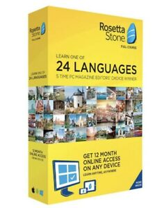 Rosetta Stone:Learn a Language for 12Months Choose from 24 Languages Sealed Box