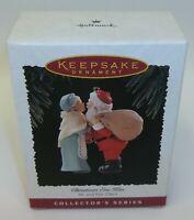 Hallmark Keepsake Ornament Mr. & Mrs. Santa Claus Series Christmas Eve Kiss MIB