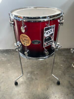 "Pacific PDP by DW MXR Maple Floor Tom 14X12"" Cherry to Black Fade Made in Mexico"