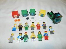 Lego Train Railway Express set #4561 Truck Cargo 13 Minifigs Females Males Figs