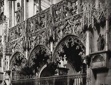 1927 Vintage FRANCE Troyes Sainte-Madeleine Church Architecture Photo HURLIMANN