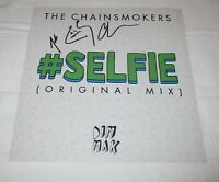 THE CHAINSMOKERS SIGNED #SELFIE 12X12 PHOTO
