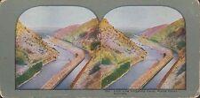 Coloured Vintage Stereoview - High Line Irrigating Canal, Platt Canon, Colorado