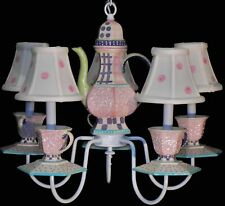 Pink Tea Party Chandelier Teapot/Teacups