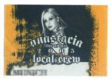 Anastacia - Live At Last 2005 - Konzert-Satin-Pass Local Crew Gelb - f. Sammler