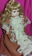 """VTG LARGE 22""""BISQUE REPRODUCTION OF ANTIQUE DOLL"""