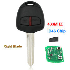 For Mitsubishi Lancer Outlander 2 Button Remote Key 433MHz ID46 Chip Right Blade