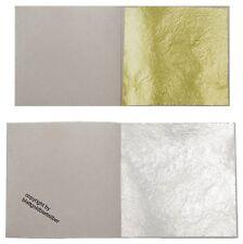 24 Carat Gold Leaf Essbare Übertragungsblatt für Kuchen Dekoration 8cm